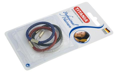 Резинки для волос Titania 8015В (4шт, цветные)