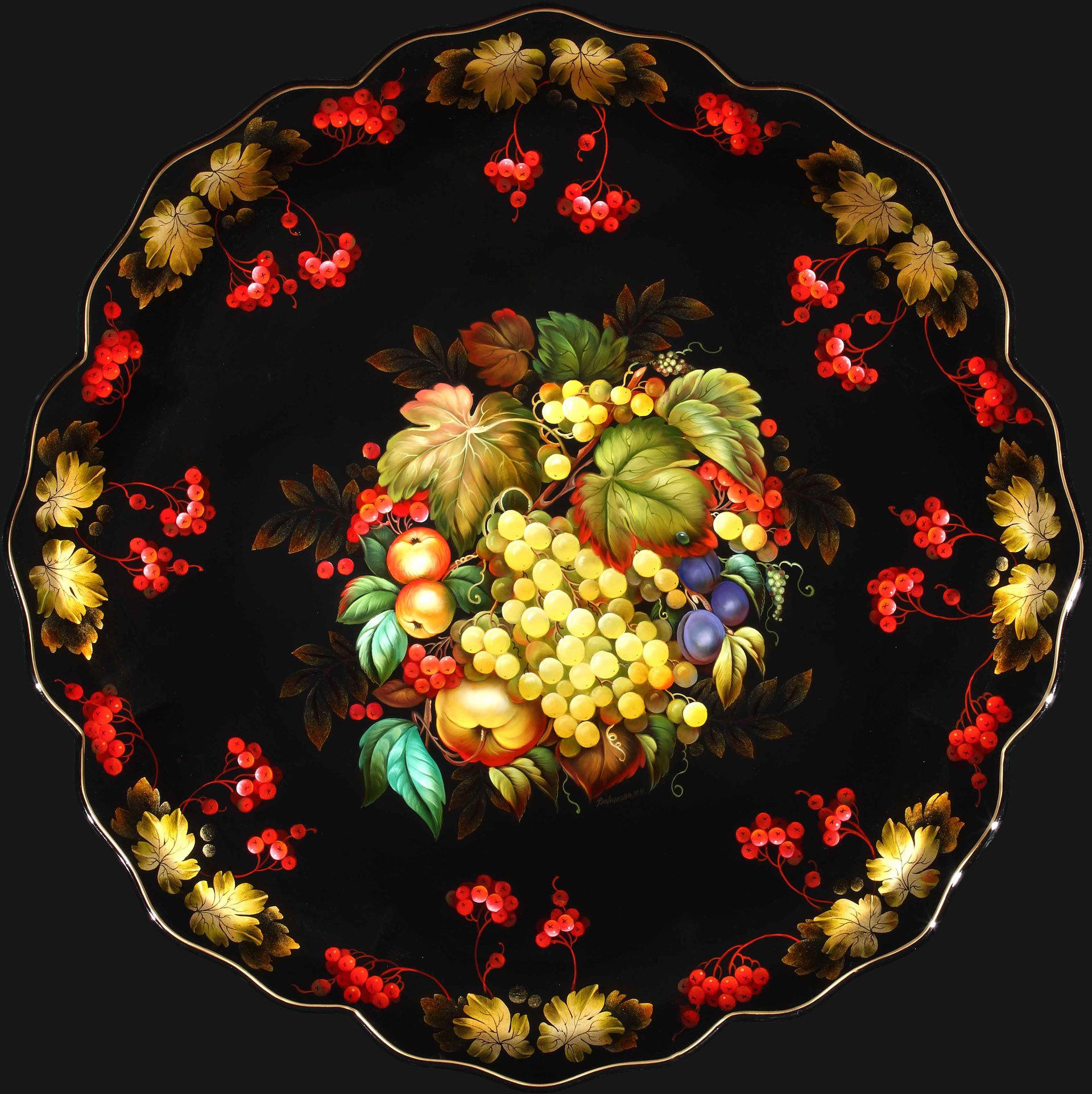 Калина и фрукт