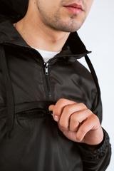 Ветровка-анорак черный
