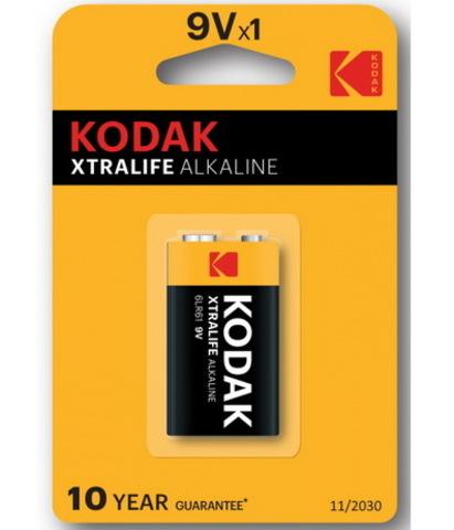 Батарейки Kodak XtraLife 6LR61, крона 9V (1/10) BL