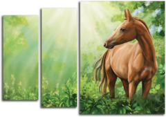 """Модульная картина """"Дикая лошадь"""""""