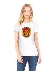 Футболка с принтом Лев (Lion) белая w007