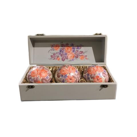 Набор из 3 елочных шаров в шкатулке SET04D-667785847