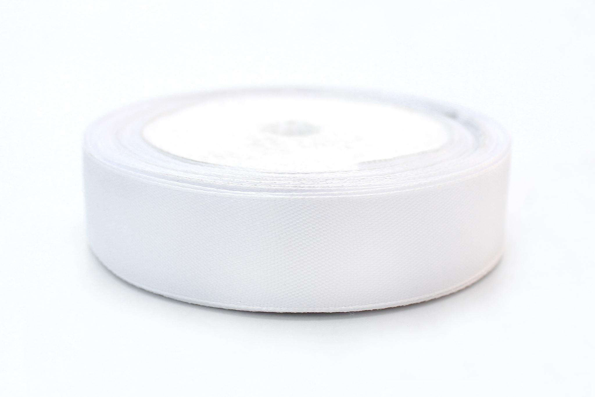 Лента атласная,2,5см,белый