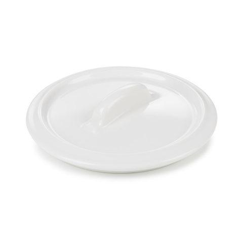 Круглая фарфоровая  крышка для кокотницы, белая, артикул 643708, серия Belle Cuisine