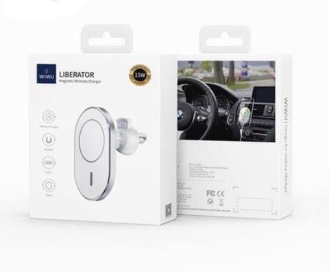 Автомобильный держатель с беспроводной зарядкой Wiwu 15W CH-306 /silver/