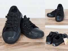 Обувь дет. № 3  Конверсы Черные