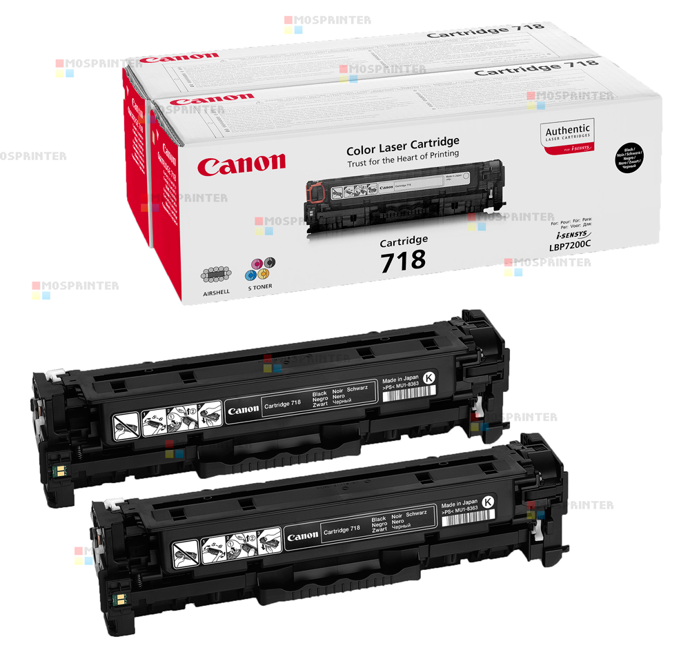 Cartridge 718Bk x 2 / 2662B005[AA]