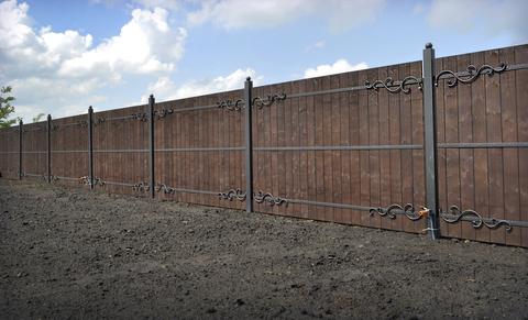 Ковано деревянный забор N-4