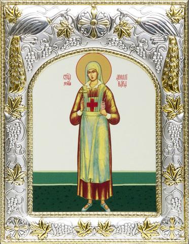 Серебряная икона именная Аполлинария Тупицына 18x14см