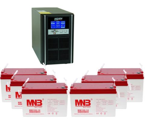 Комплект ИБП UDC9203H-АКБ MM100 (72в, 2400Вт)