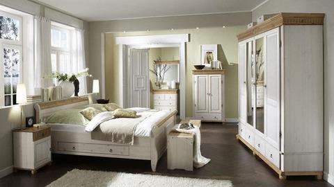 Спальня Мальта и Хельсинки (белый воск/антик)