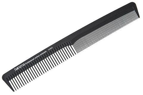Расческа для стрижки Harizma 18см узкая карбон h10663
