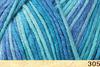 Пряжа Fibranatura Bamboo Jazz Multi 305 (Голубой,бирюза,лазурь)