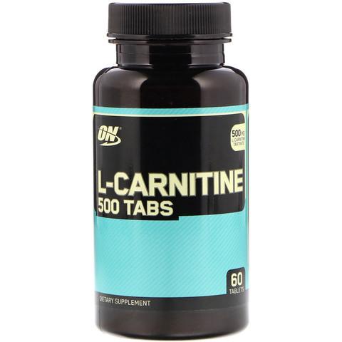 Optimum Nutrition L-карнитин, 500 мг 60 таблеток