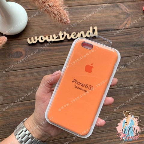 Чехол iPhone 6+/6s+ Silicone Case /papaya/ папая 1:1
