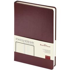Ежедневник недатированный Bruno Visconti Megapolis искусственная кожа А5 160 листов коричневый (145x215 мм)