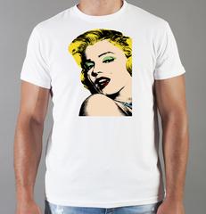 Футболка с принтом Мэрилин Монро  (Marilyn Monroe) белая 0017