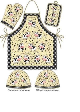 Кухонный набор Горошек арт.НК-62-2 (рукавица h 29, прихватка 22*15)