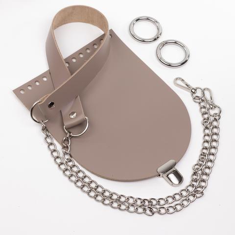 """Комплект для сумочки Орео """"Мускат"""". Ручка с цепочкой и замок """"Малыш"""""""