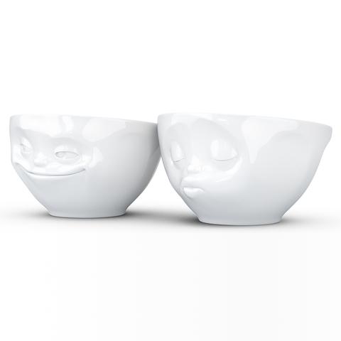Набор из 2 чаш Tassen Grinning & Kissing 200 мл белый