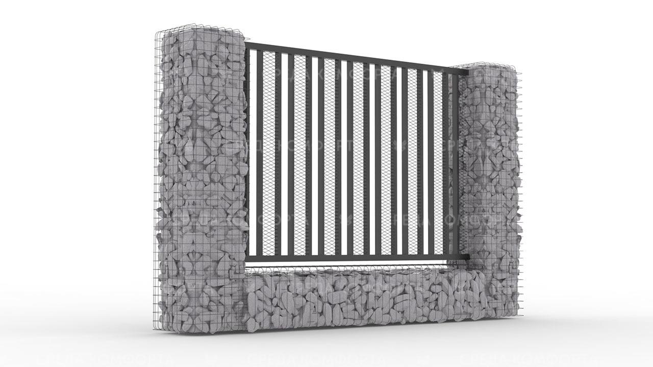 Забор из сетки рабицы ZBR0189
