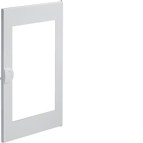 Дверца с прозрачным окном запасная, для встраиваемого щитка,Volta,2-рядного RAL9010