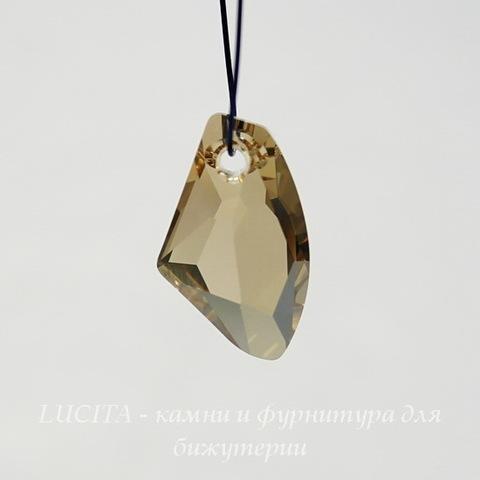 6656 Подвеска Сваровски Galactic Vertical Crystal Golden Shadow (19 мм)