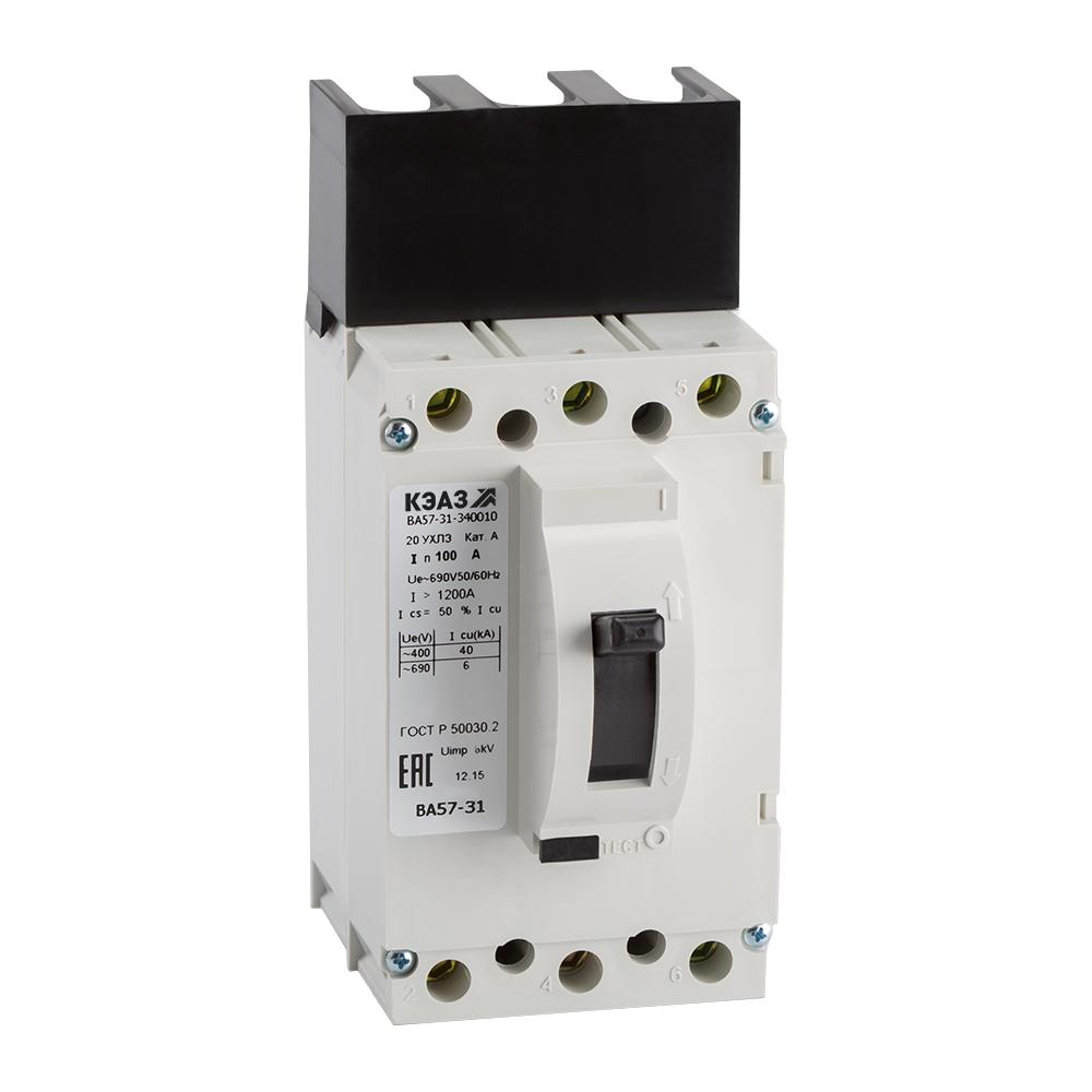 Выключатель автоматический ВА57-31-340010-100А-1200-690AC-УХЛ3-КЭАЗ
