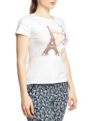 8526-8 футболка женская, белая