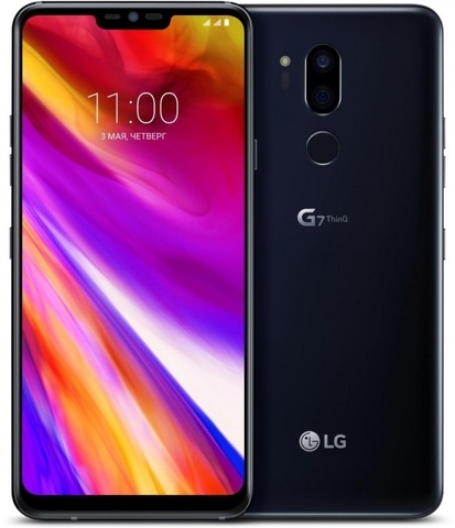 Смартфон LG G7 ThinQ 64GB (G710EMW)  Black (Угольно-черный)