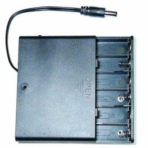 Закрытый батарейный отсек 6*АА (6х1) с выключателем и разъемом питания