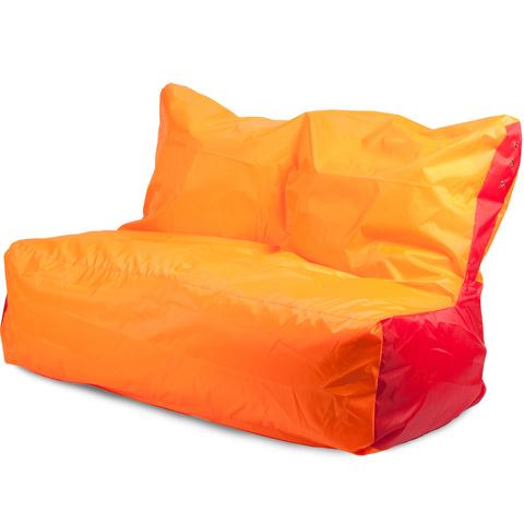 Бескаркасное кресло «Диван», Оранжевый и красный