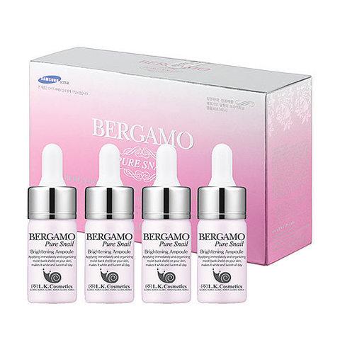 Bergamo Pure Snail Brightening Ampoule Set ампульная сыворотка с муцином улитки для сияния кожи