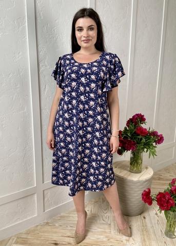 Сесіль. Романтична весняна сукня. Сині квіти #2