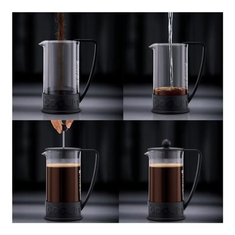 Френч-пресс Bodum Brazil (1 литр), черный