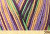 Пряжа Fibranatura Bamboo Jazz Multi 306 (Лиловый,фиолет,салат,желтый)