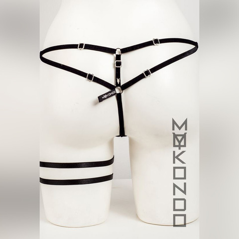 MyMokondo Бикини вельвет (Черный, one size)