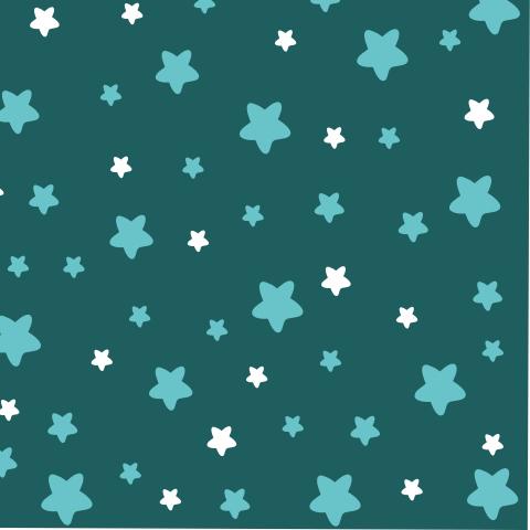 Бирюзовые и белые звезды на бирюзовом фоне.