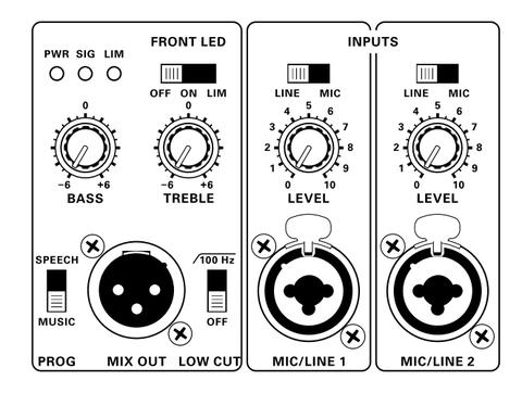Акустические системы активные Turbosound M12