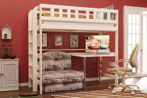 Кровать двухъярусная из массива №5