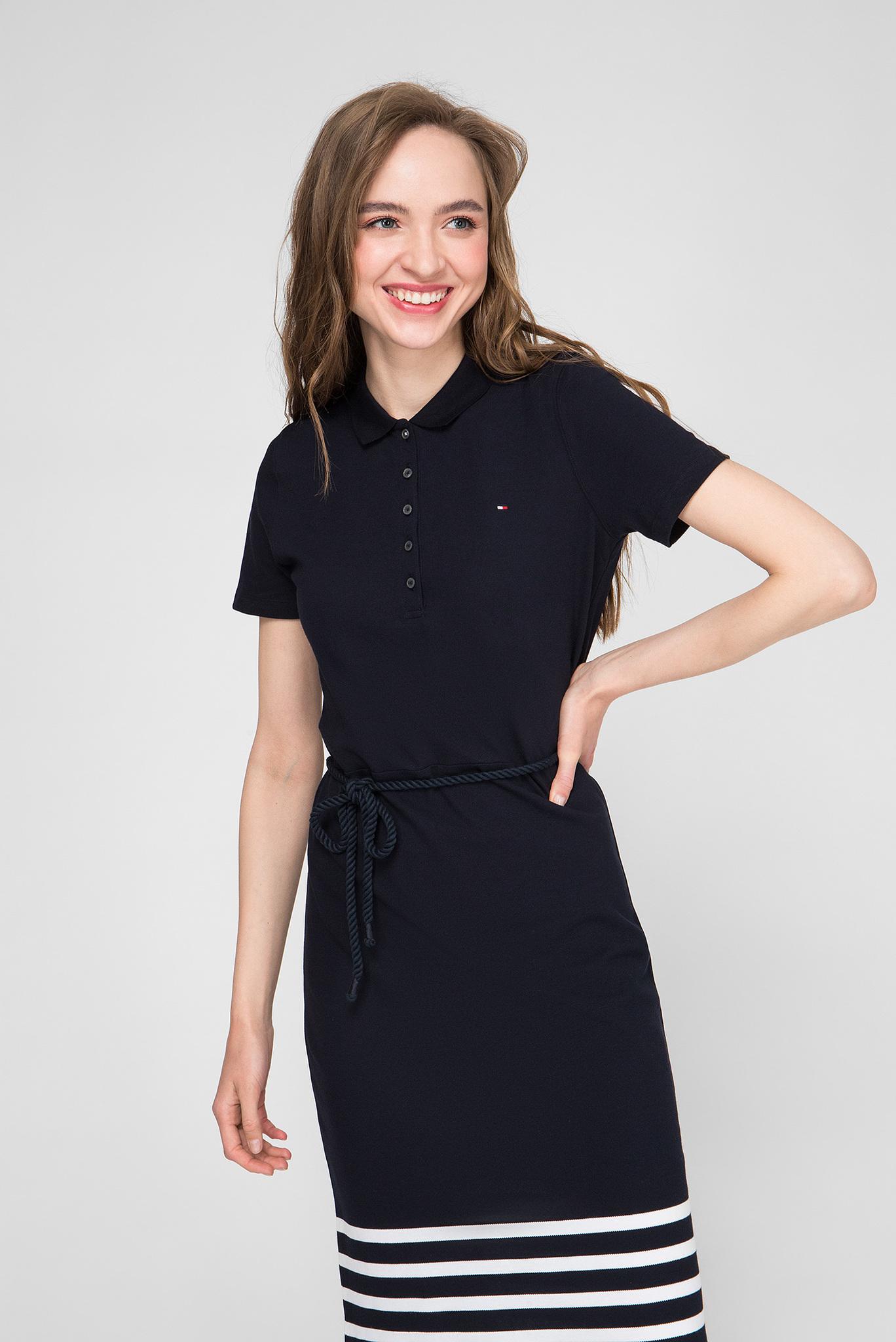 Женское темно-синие платье Slim Fit Tommy Hilfiger