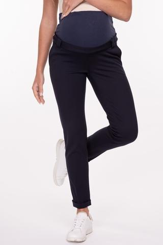 Утепленные брюки для беременных 11030 синий