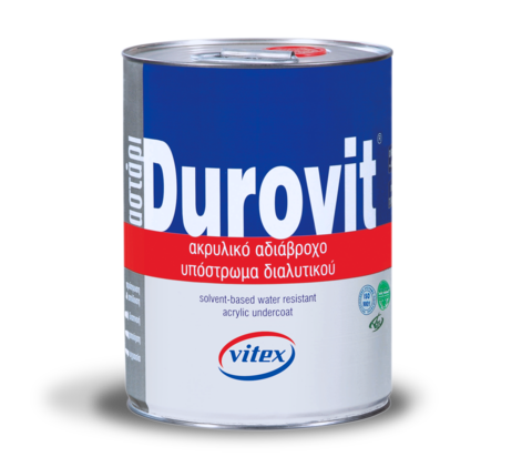 Прозрачное акриловое грунтовочное покрытие на основе растворителя Durovit