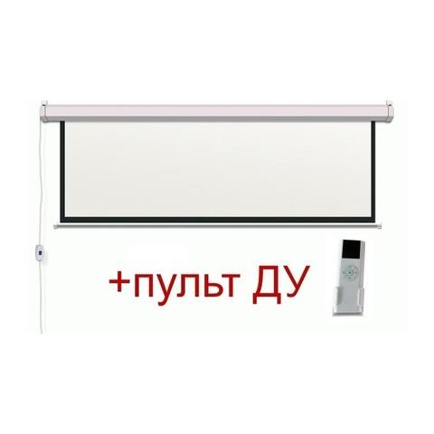 Экран электрический моторизированный с ду (1 : 1) 200 x 200 см, диагональ 111