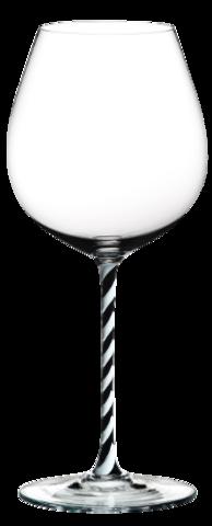 Riedel Fatto a Mano - Фужер Old World Pinot Noir 705 мл хрустальное стекло с черно-белой ножкой (stemglass) картон