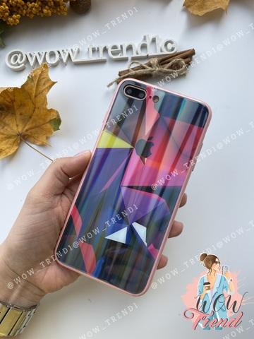 Чехол iPhone 7/8 Plus Polaris smoke Case Logo /pink/
