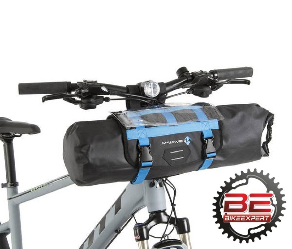 Велосумка на руль M-Wave Rough Ride Front черно-синяя