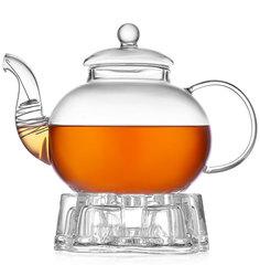 Стеклянный заварочный чайник с подогревом от свечи Orchid 1200 мл