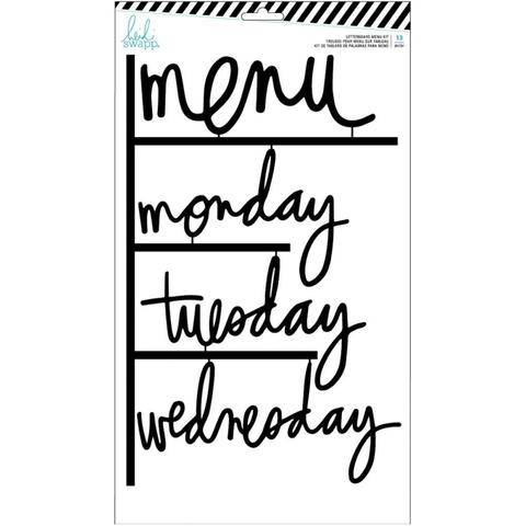 Декоративные надписи для досок Heidi Swapp Letterboard Words Set -Black Menu (W/Days Of The Week)